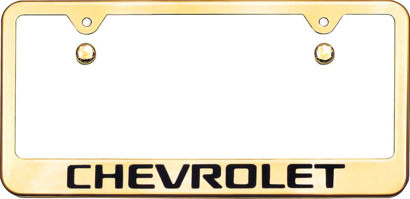 1930-2017 Chevrolet Camaro Parts | UB309 | Chevrolet Block Logo Gold ...