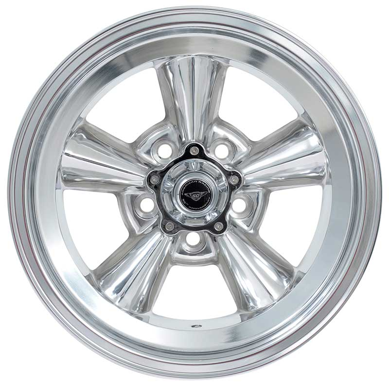 American Racing VN215109 Torq-Thrust Original Polished Wheel 15x 7 with 5 x 4-1/2 Bolt Pattern