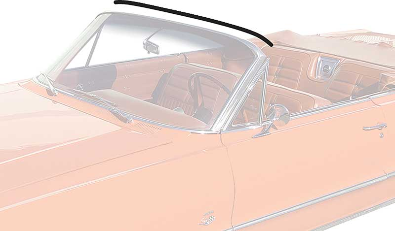 1958-64 Impala Convertible Top Header Seal
