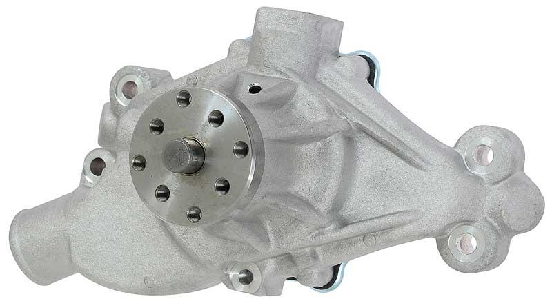 High Flow Aluminum Small Block Short Water Pump with Clockwise Rotation and 5/8 Shaft
