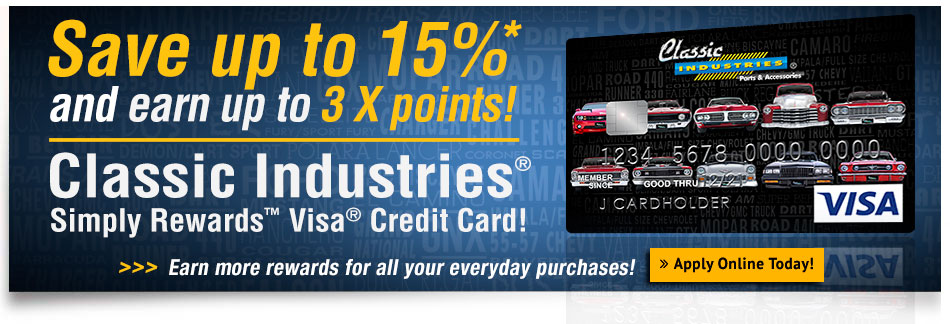 Save up to 15%* and earn rewards with the Classic Visa!